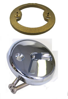Eljer Bathtub Lever Drain Face Plate With Screws And