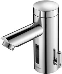 Sloan EAF-200-P-ISM CP Hardwired, Deck Mounted, IR Faucet with Side Mixing Valve