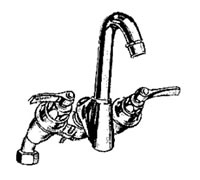 Crane Hospital Supply Panel Back Lavatory Faucets