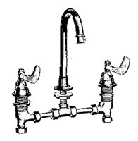 Crane Hospital Supply Gooseneck Spout Lavatory Faucets